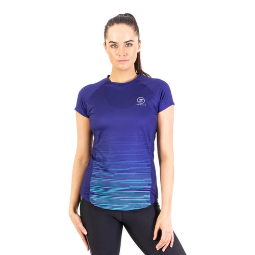 Women's Invert Blue Design Recycled Running T-shirt