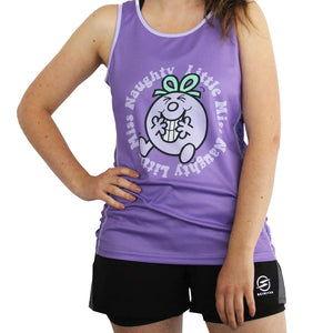 Little Miss Naughty technical running t-shirt & vest