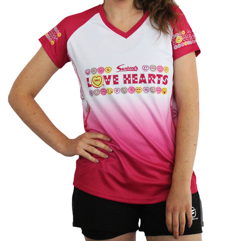 Swizzels LOVE HEARTS Technical Running T-shirt & Vest