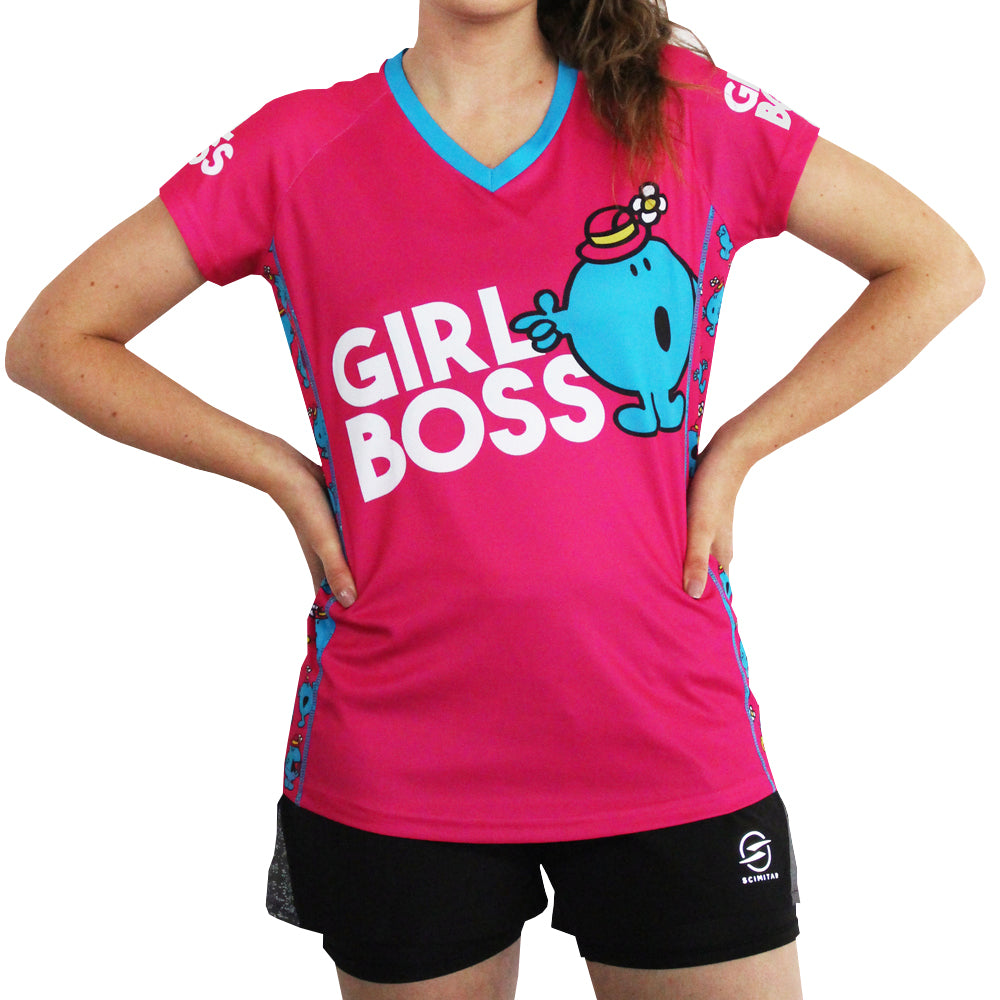 Little Miss Bossy technical running t-shirts & vests