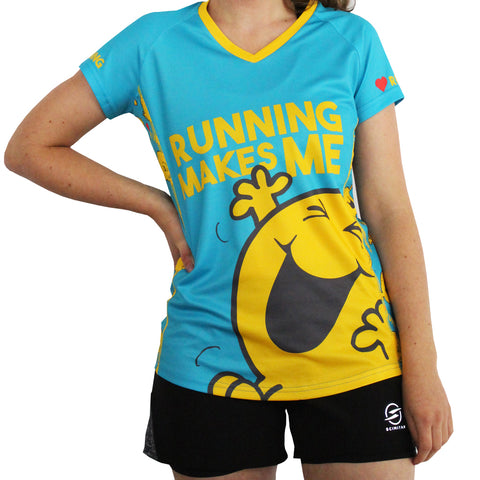 Women's Mr Happy Technical Running T-shirt & Vest