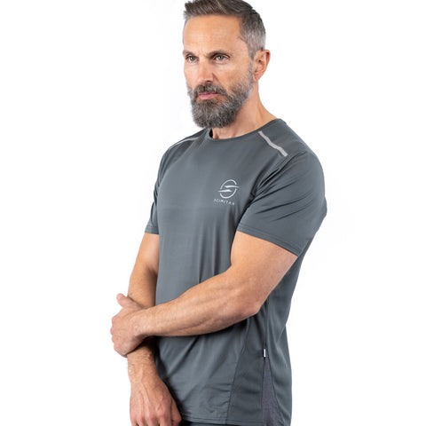 Mens Classic Recycled Running T-shirt (Black, Grey, Blue, Green)