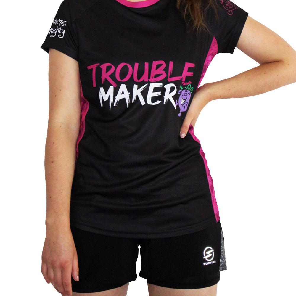 Little Miss Trouble Maker technical running t-shirts & vests