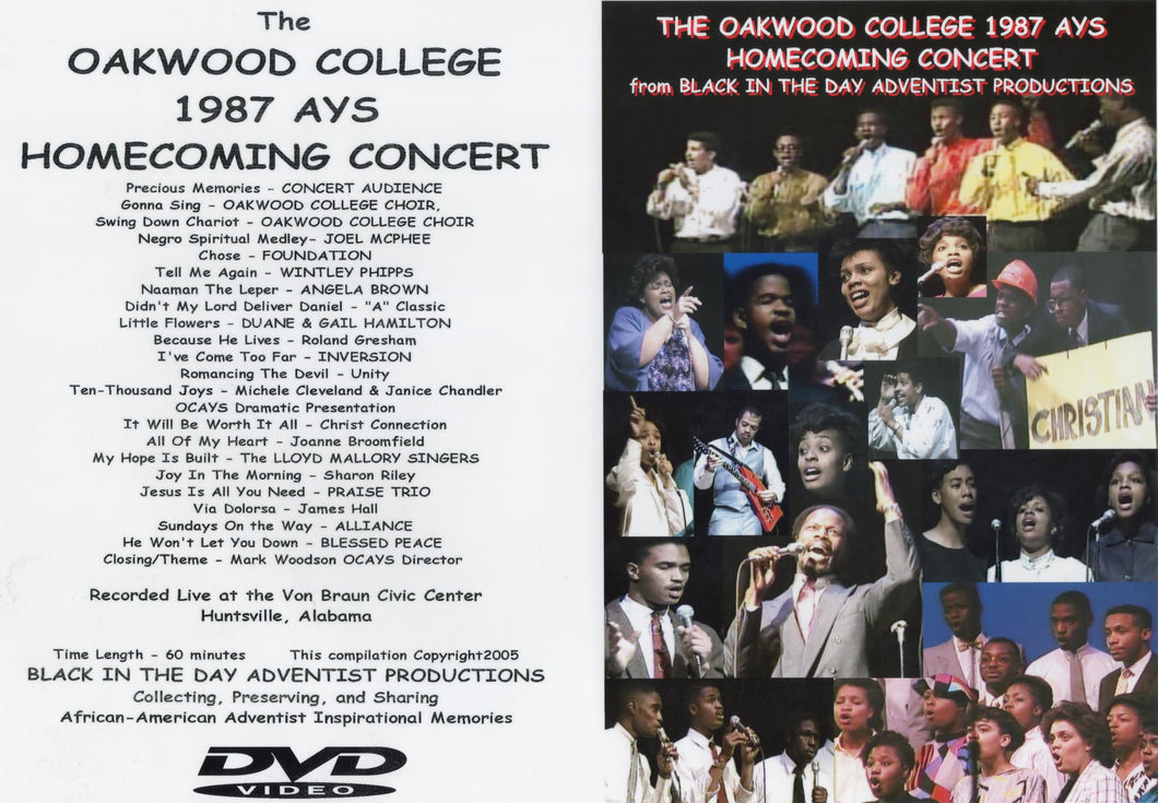 1987 Oakwood Homecoming AYS Concert