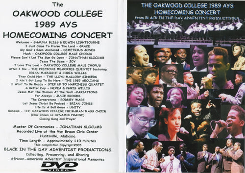 1989 Oakwood Homecoming AYS Concert