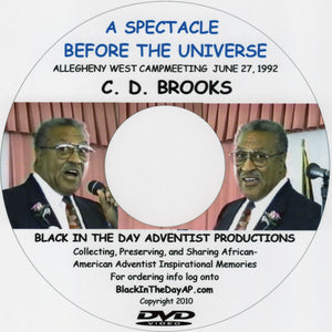 "C.D. Brooks - ""A Spectacle Before The Universe"""