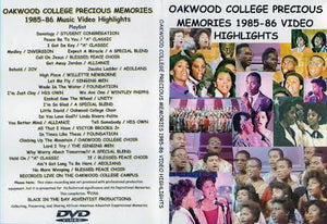 1985 - 1986 Oakwood College Precious Memories Highlights