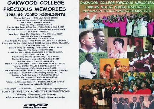1988-1989 Oakwood College Precious Memories Highlights