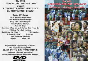 1990 Oakwood College Aeolians - A Concert of Negro Spirituals