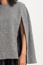 Load image into Gallery viewer, Josephine Houndstooth Cape