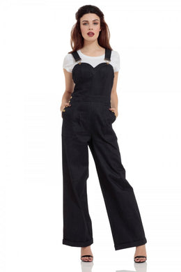 Rosie the Riveter Denim Dungaree Jumpsuit