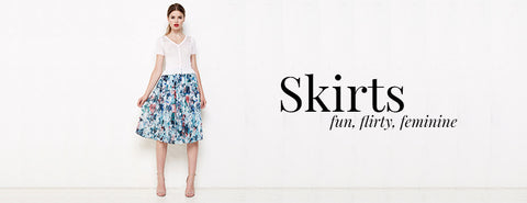 In Store Skirts collection from RK Collections Boutique