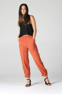 B3399-ASIS-1-Angie-Double gauze jogger pant-RK Collections Boutique