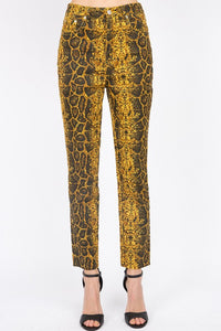 S8576C-1-Signature 8-Snake print taper leg jeans-RK Collections Boutique