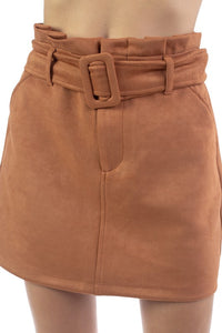 OS34080-1-Fashion USA-Faux Suede Waist Belt Skirt-RK Collections Boutique