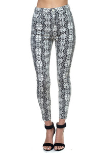 OP505-1-Fashion USA-Snake Print Skinny Jeans-RK Collections Boutique