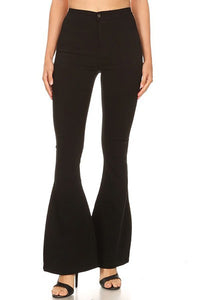 GP2610-BL-S-JC & JQ-High waist super stretch bell bottom pants-RK Collections Boutique