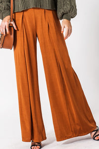 FL20E908-R-S-Favlux-Matte jersey wide leg pull on pant-RK Collections Boutique