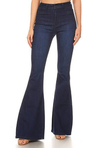 GP3318-S-JC & JQ-High waist stretch bell bottom jeans-RK Collections Boutique