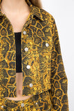 -Signature 8-Snake print jean jacket-RK Collections Boutique