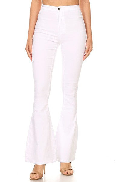 GP2610-W-S-JC & JQ-High waist super stretch bell bottom pants-RK Collections Boutique