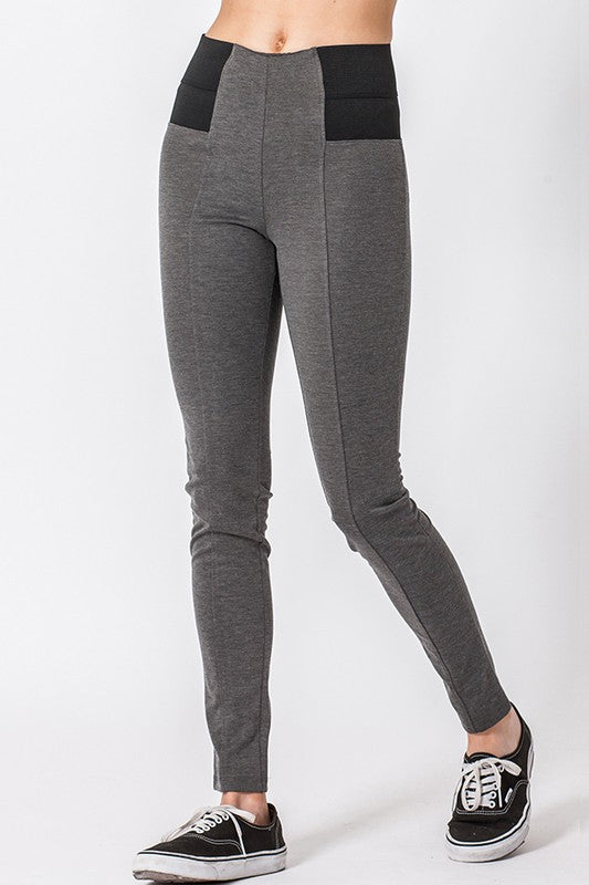 leggings with wide elastic waist