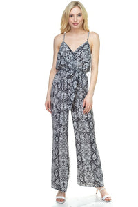 OP99703-1-Fashion USA-Sleeveless Snake Print Palazzo Jumpsuit-RK Collections Boutique