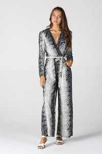 B5763-A680-1-Angie-Snakeskin long sleeve jumpsuit-RK Collections Boutique