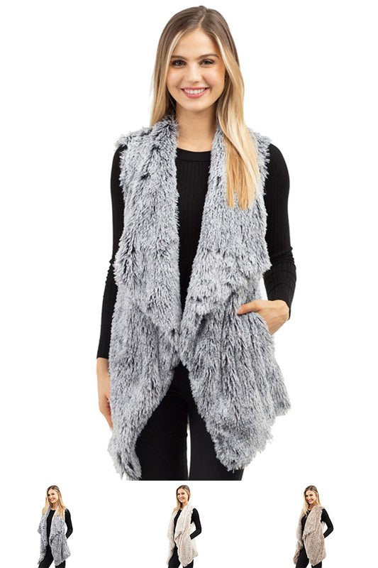 Faux Fur Pocket Vest