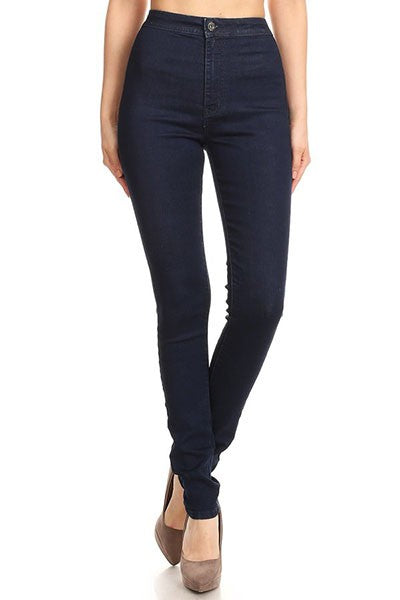 High waist stretchy skinny jean