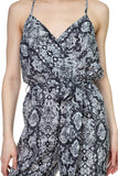 -Fashion USA-Sleeveless Snake Print Palazzo Jumpsuit-RK Collections Boutique