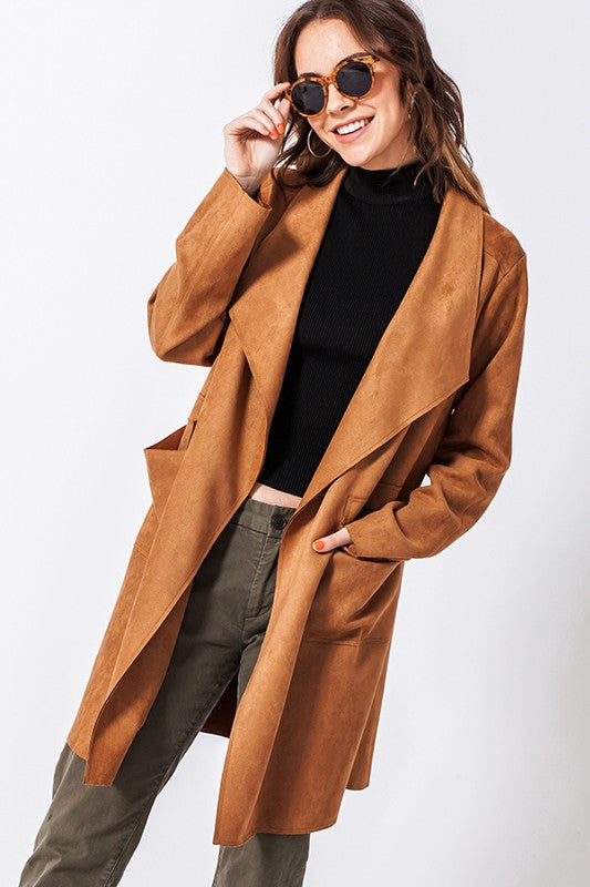 FL20E740-C-S-Favlux-Suede blazer coat-RK Collections Boutique
