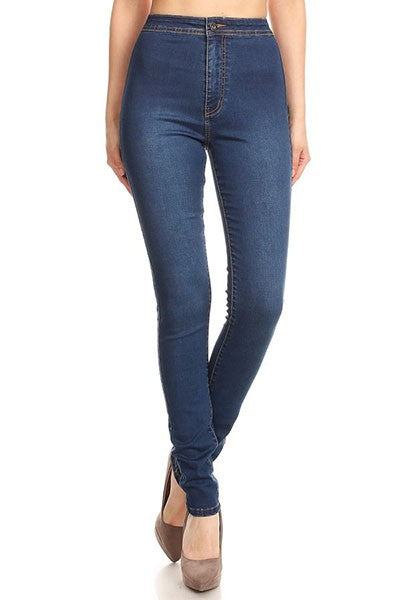 High waist stretch skinny jean
