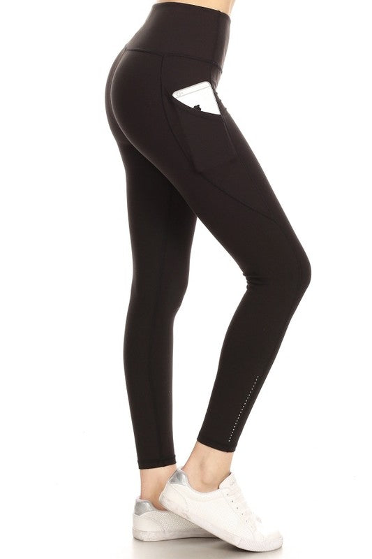 YL8A-1-Love It-Premium YOGA high waist leggings with pocket-RK Collections Boutique