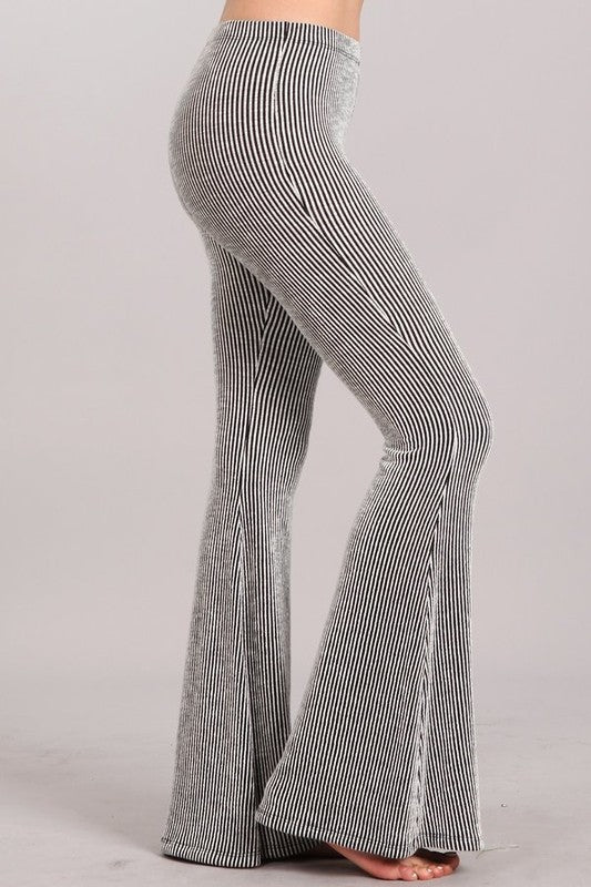 C30562-S-Chatoyant-Yarn dyed stripe bell bottoms-RK Collections Boutique