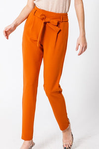 FL20A763-BR-S-Favlux-Elastic waist taper pants-RK Collections Boutique