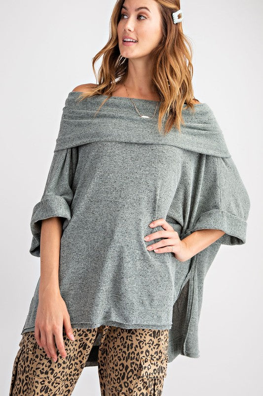 ET10651-1-Easel-off the shoulder fold over boxy top-RK Collections Boutique