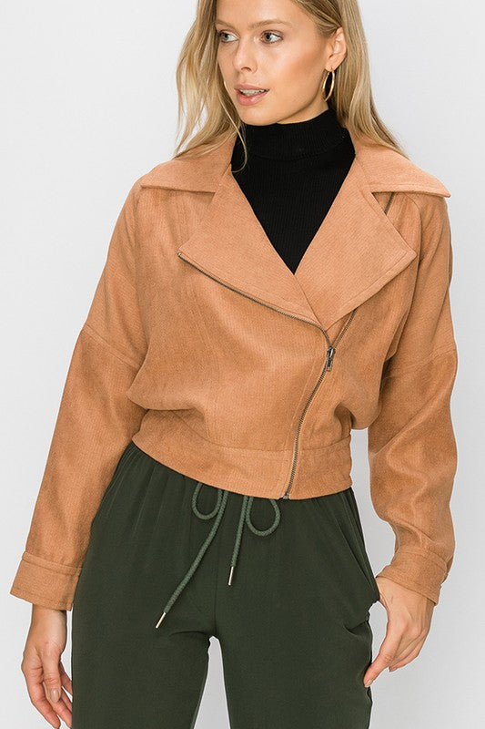 side zip moto jacket