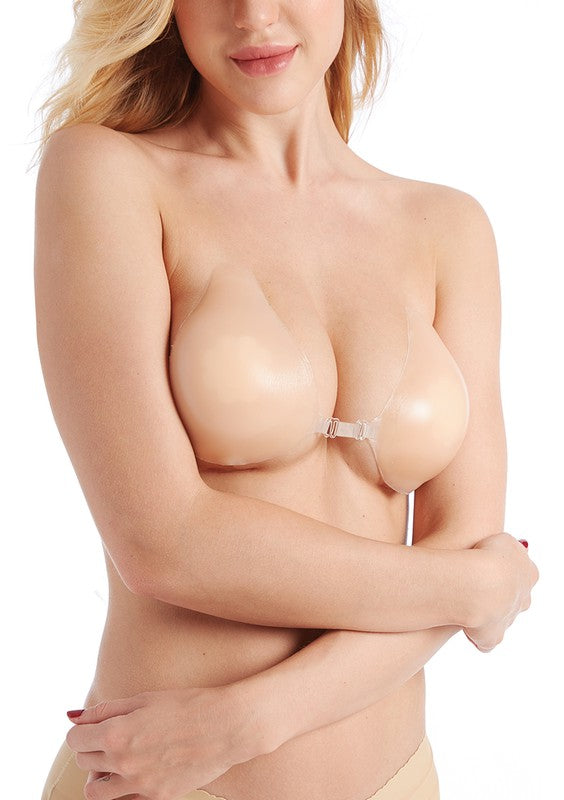 SILICONE BRA CUPS with center clasp