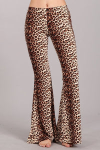 -Chatoyant-Leopard print bell bottom-RK Collections Boutique