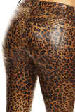 Faux Leather Leopard Skinny Jeans