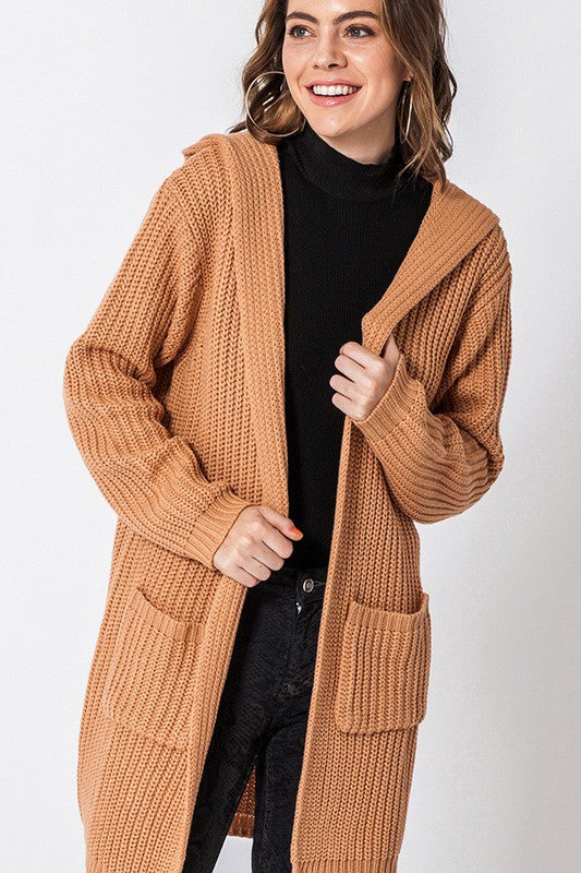 FL19H617-SL-S-Favlux-Longline hooded cardigan-RK Collections Boutique