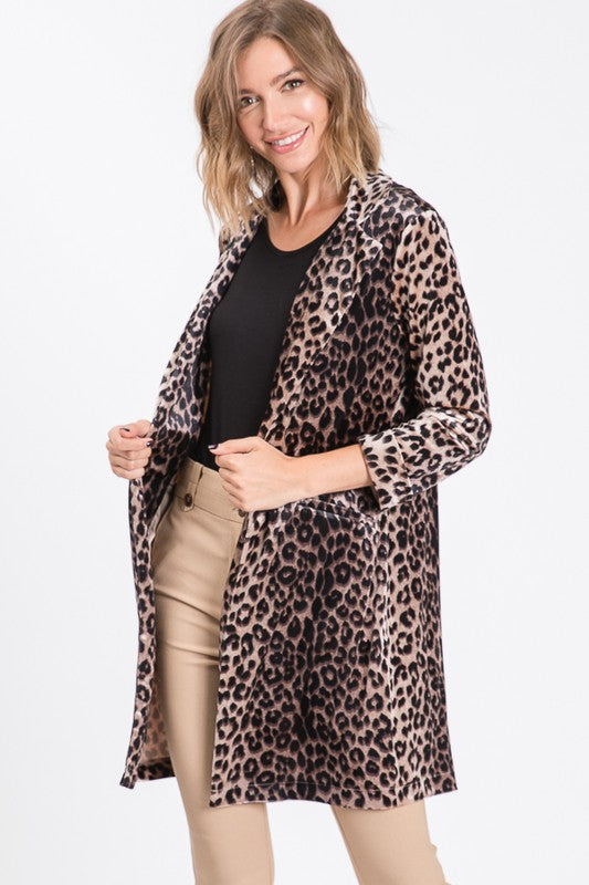 Light Leopard Print Jacket