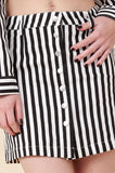 Vertical Stripe Mini Skirt
