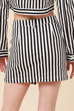 -Favlux-Vertical Stripe Mini Skirt-RK Collections Boutique