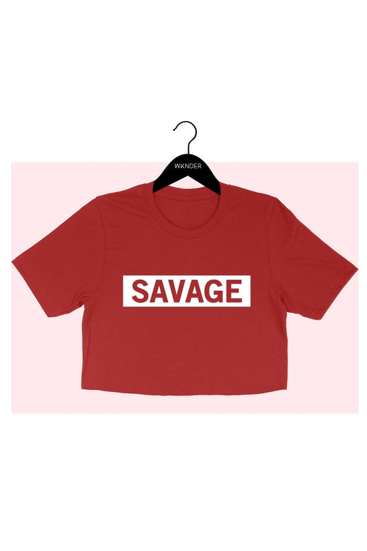 3229-CT-1-WKNDER-Savage crop tee-RK Collections Boutique