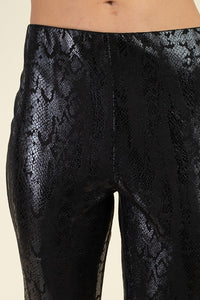 Faux Leather Snakeskin Pants