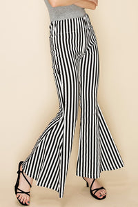 FL20F385-P-S-Favlux-Vertical stripe high waist bell bottom pants-RK Collections Boutique