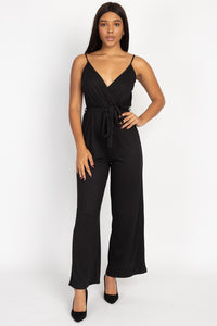 OP00703-1-Fashion USA-Surplice cami jumpsuit with sash belt-RK Collections Boutique