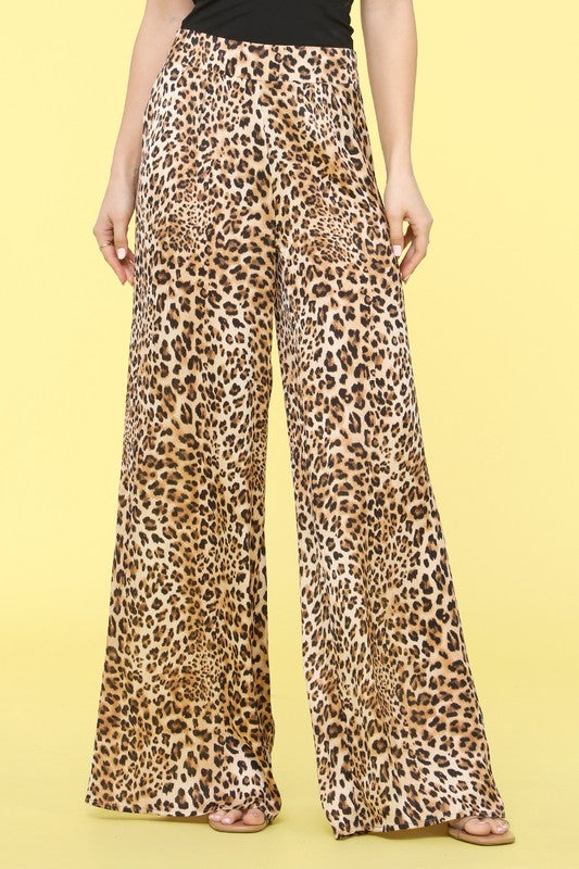 P10090-1-Lovesong-Leopard high waist palazzo pants-RK Collections Boutique
